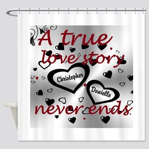 True Love Story Shower Curtain