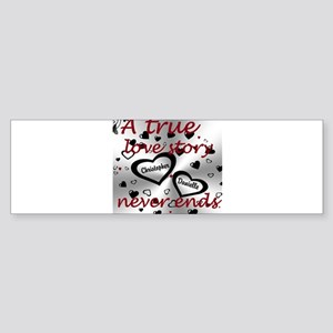 True Love Story Bumper Sticker