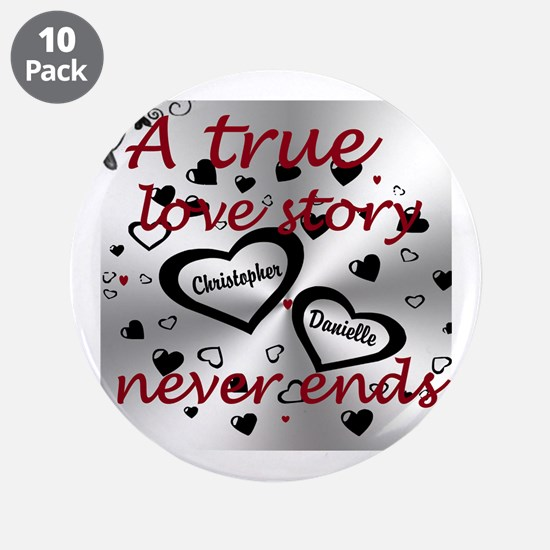 "True Love Story 3.5&Quot; Bu 3.5"" Button (10 Pack)"