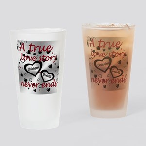 True Love Story Drinking Glass