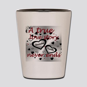 True Love Story Shot Glass