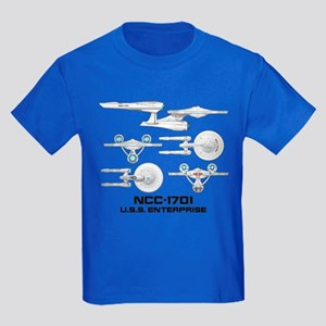 Ncc-1701 Enterprise Kids Dark T-Shirt
