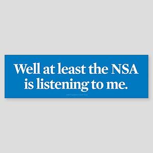NSA Listens Bumper Sticker