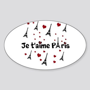 Cute French I LOVE PARIS Sticker