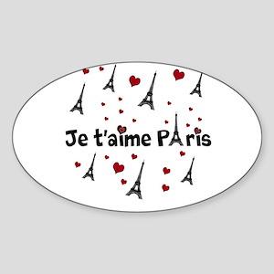Cute French I LOVE PARIS Sticker