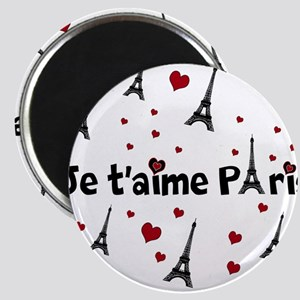 Cute French I LOVE PARIS Magnets