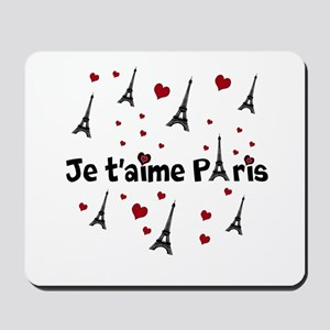 Cute French I LOVE PARIS Mousepad