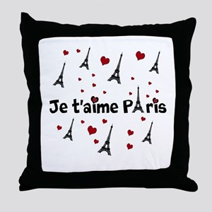 Cute French I LOVE PARIS Throw Pillow