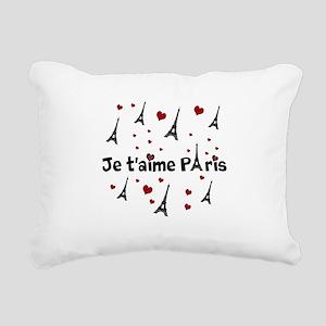 Cute French I LOVE PARIS Rectangular Canvas Pillow