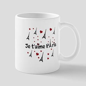 Cute French I LOVE PARIS Mugs