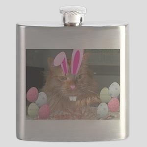 Easter Orange Tabby Cat Flask