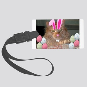 Easter Orange Tabby Cat Luggage Tag