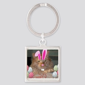 Easter Orange Tabby Cat Keychains