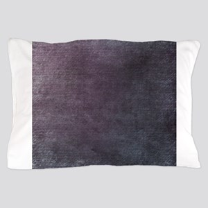 Purple script linen texture Pillow Case