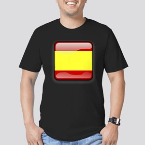 Flag of Spain Men's Fitted T-Shirt (dark)