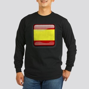 Flag of Spain Long Sleeve Dark T-Shirt