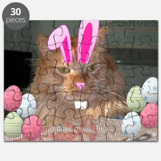 Easter Orange Tabby Cat Puzzle