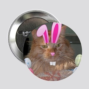 "Easter Orange Tabby Cat 2.25"" Button"