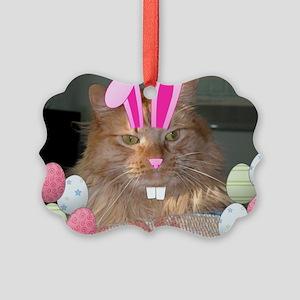 Easter Orange Tabby Cat Ornament