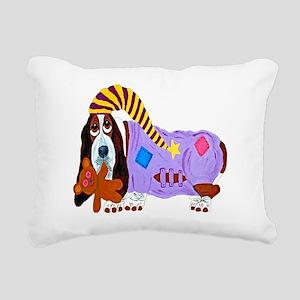 Basset Hound Bedtime Rectangular Canvas Pillow