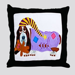 Basset Hound Bedtime Throw Pillow