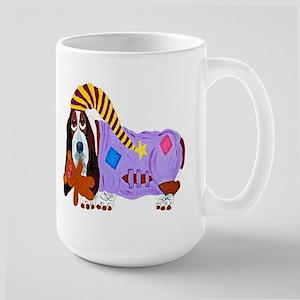 Basset Hound Bedtime Large Mug