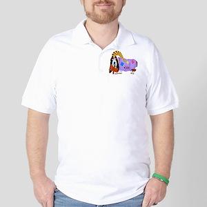 Basset Hound Bedtime Golf Shirt