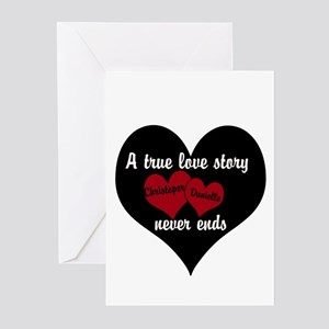Personalize True Love Story Greeting Cards