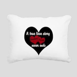 Personalize True Love Story Rectangular Canvas Pil