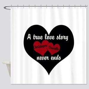 Personalize True Love Story Shower Curtain