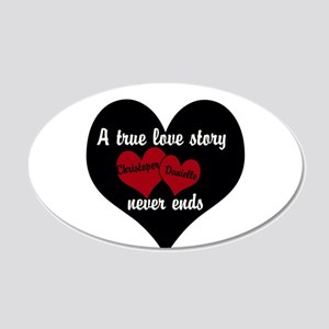 Personalize True Love Story Wall Decal