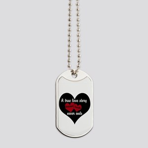 Personalize True Love Story Dog Tags