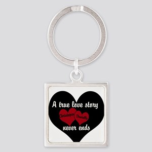Personalize True Love Story Keychains
