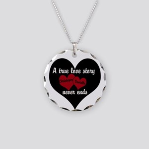 Personalize True Love Story Necklace Circle Charm