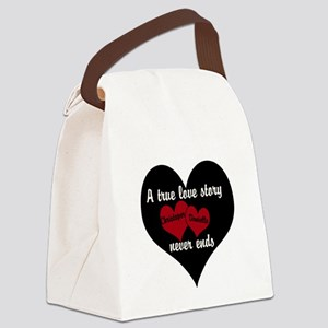 Personalize True Love Story Canvas Lunch Bag