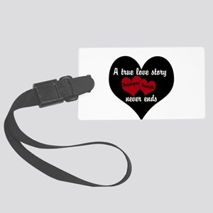 Personalize True Love Story Luggage Tag