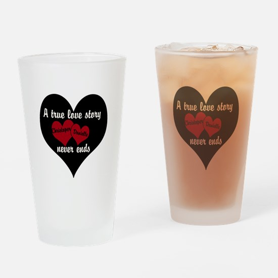 Personalize True Love Story Drinking Glass