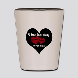 Personalize True Love Story Shot Glass