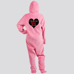 Personalize True Love Story Footed Pajamas