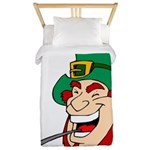 Laughing Leprechaun with Pipe Twin Duvet