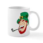 Laughing Leprechaun with Pipe Mugs