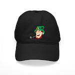 Laughing Leprechaun with Pipe Baseball Hat