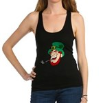 Laughing Leprechaun with Pipe Racerback Tank Top