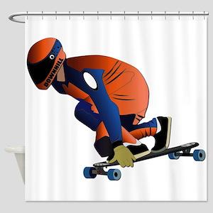 Longboarding - No Txt Shower Curtain