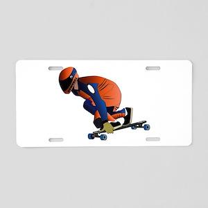 Longboarding - No Txt Aluminum License Plate