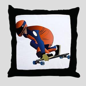 Longboarding - No Txt Throw Pillow