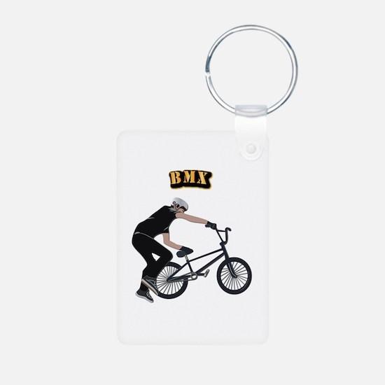 BMX With Text Keychains