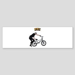 BMX With Text Sticker (Bumper)