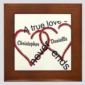A true love story: personalize Framed Tile