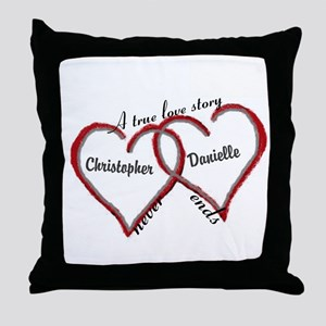 A true love story: personalize Throw Pillow